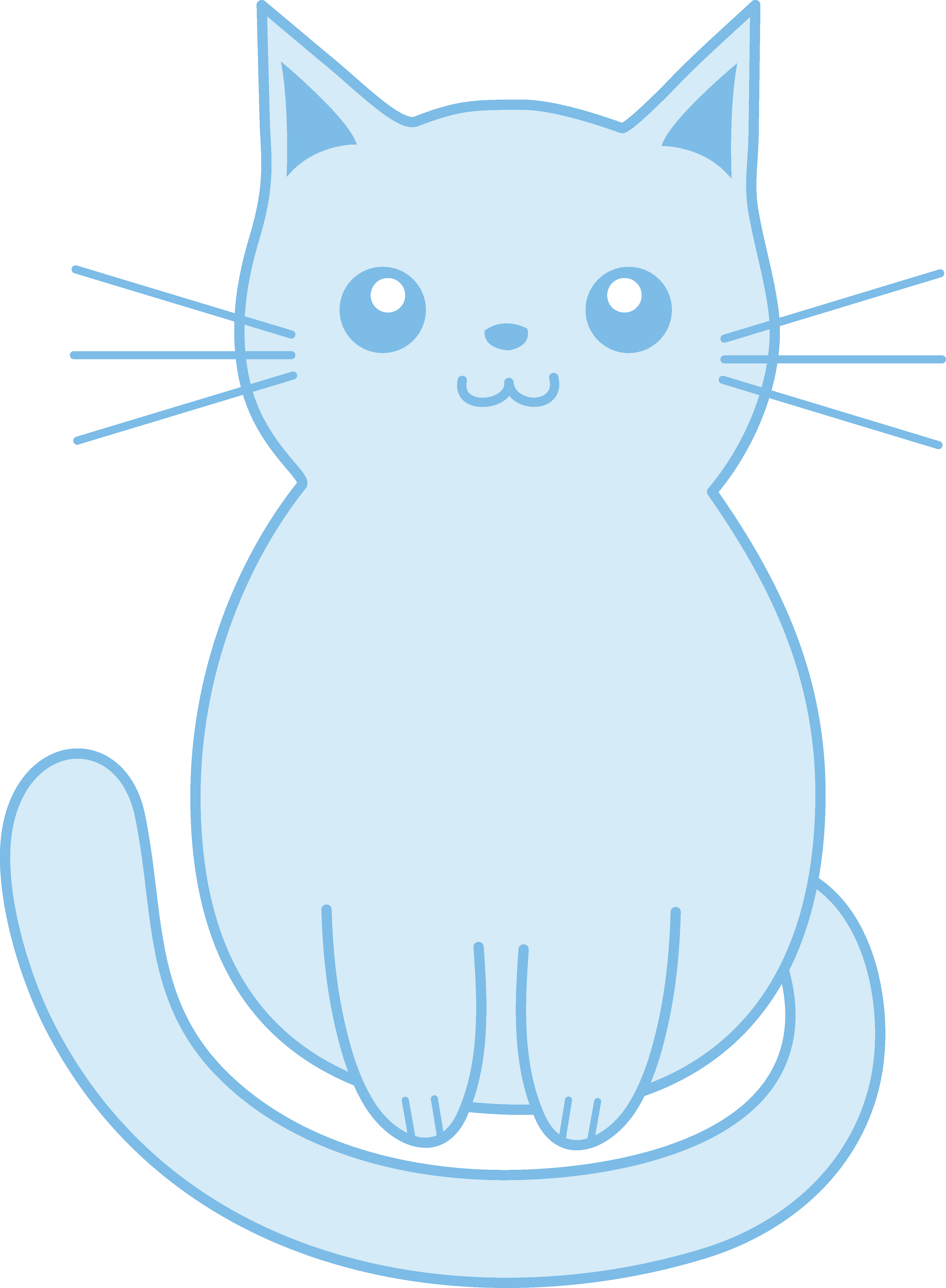 3872x5274 Kittens Clipart Blue Cat