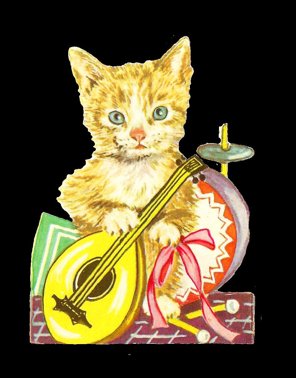 942x1204 Antique Images Free Animal Graphic Antique Cat Clip Art