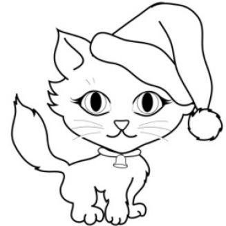 327x327 Kitten Clipart Black And White Clipart Panda