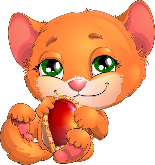500x532 Cartoon Kitten Free Vector Download (14,562 Free Vector)
