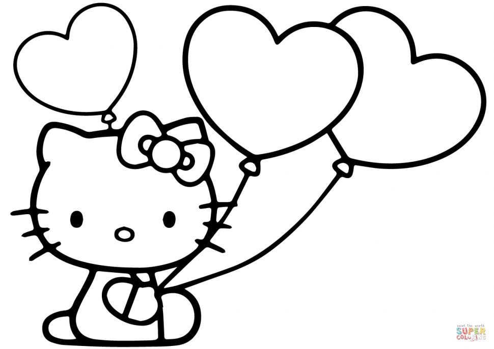 This is a photo of Enterprising Hello Kitty Coloring Images