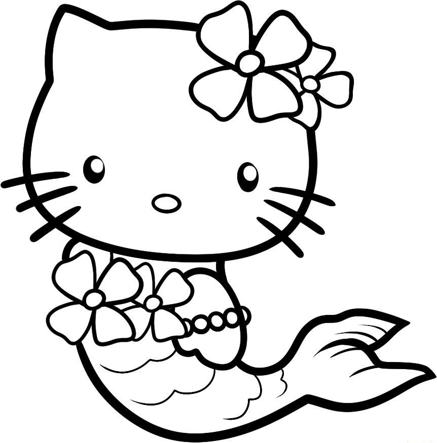 862x875 Glamorous Free Hello Kitty Coloring Pages 23 With Additional Free