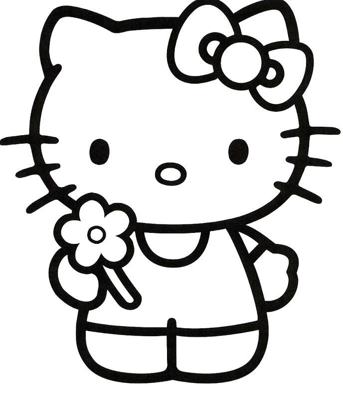 688x800 Hello Kitty Cake Template Printable Free Hello Kitty Coloring