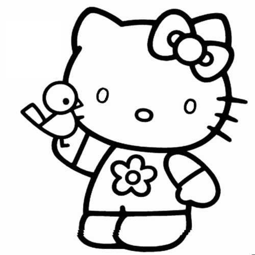 1000x1000 hello kitty coloring pages 2