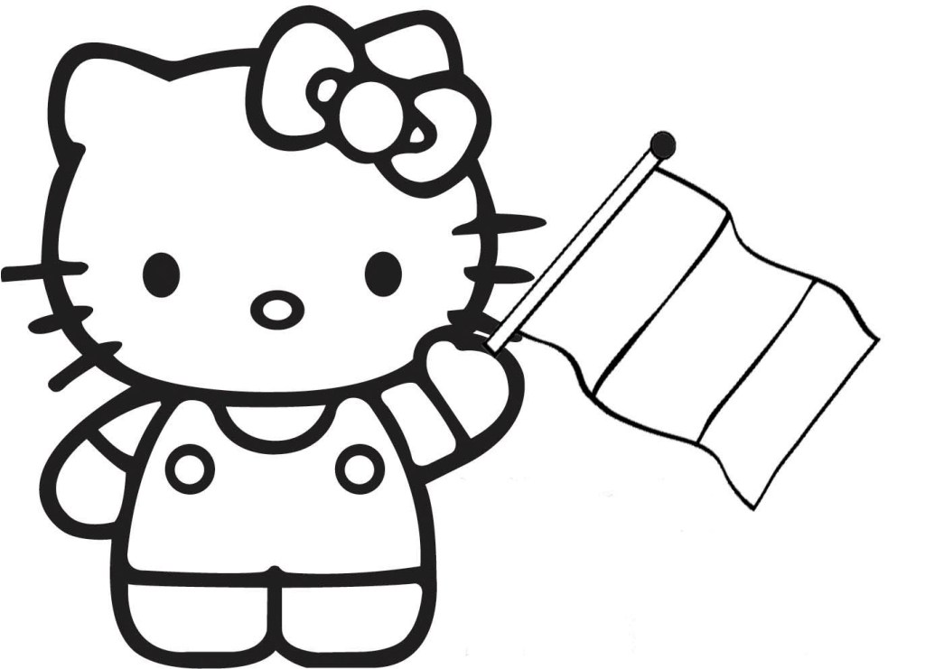 1024x741 Hello Kitty Coloring Pages Free Fitfru Style Printable Hello