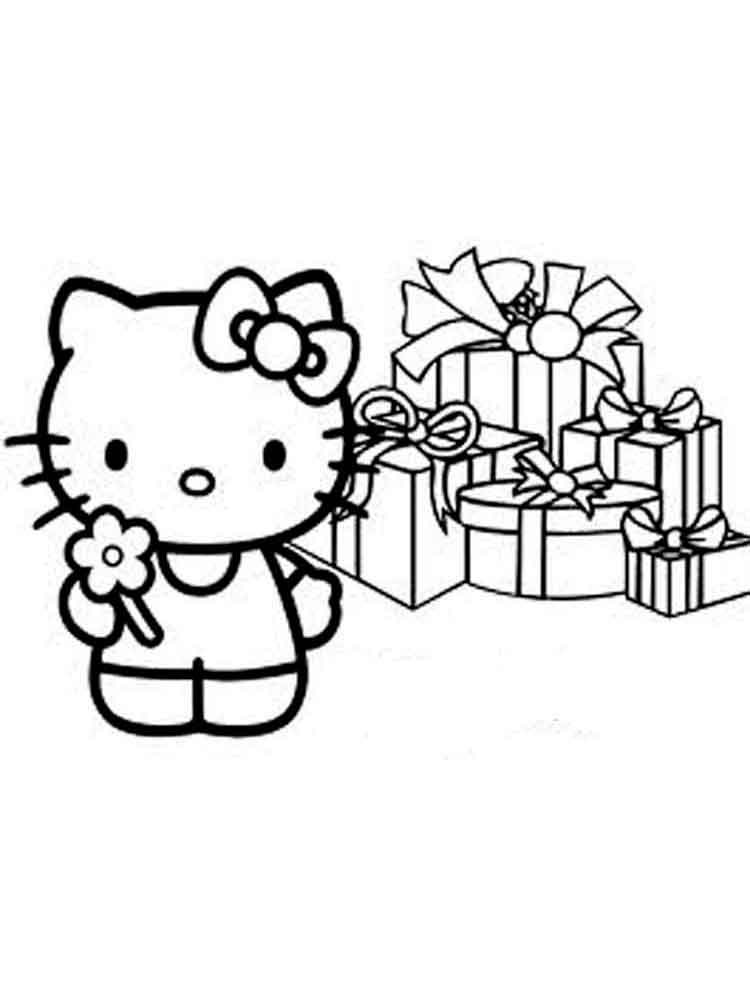 750x1000 Hello Kitty Coloring Pages. Download And Print Hello Kitty