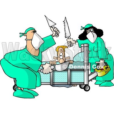 400x400 Funny Knee Surgery Clipart