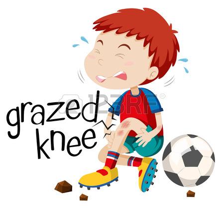 450x417 Boy Having Grazed Knee Illustration Royalty Free Cliparts, Vectors