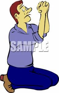 193x300 Art Image A Man Kneeling And Praying
