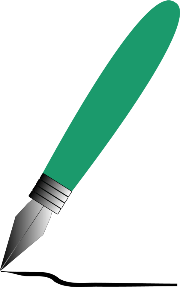600x954 Free Green Fountain Pen Clipart