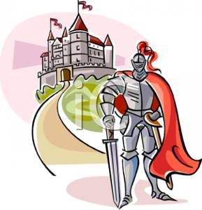 289x300 Knight In Plate Mail Guarding A Castle