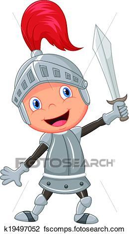 260x470 Clipart Of Cartoon Knight Boy K19497052