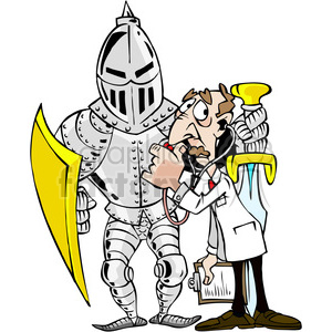 300x300 Royalty Free Cartoon Knight In Shining Armor 387856 Vector Clip