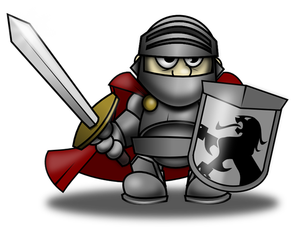 600x468 Free Menacing Knight Clip Art