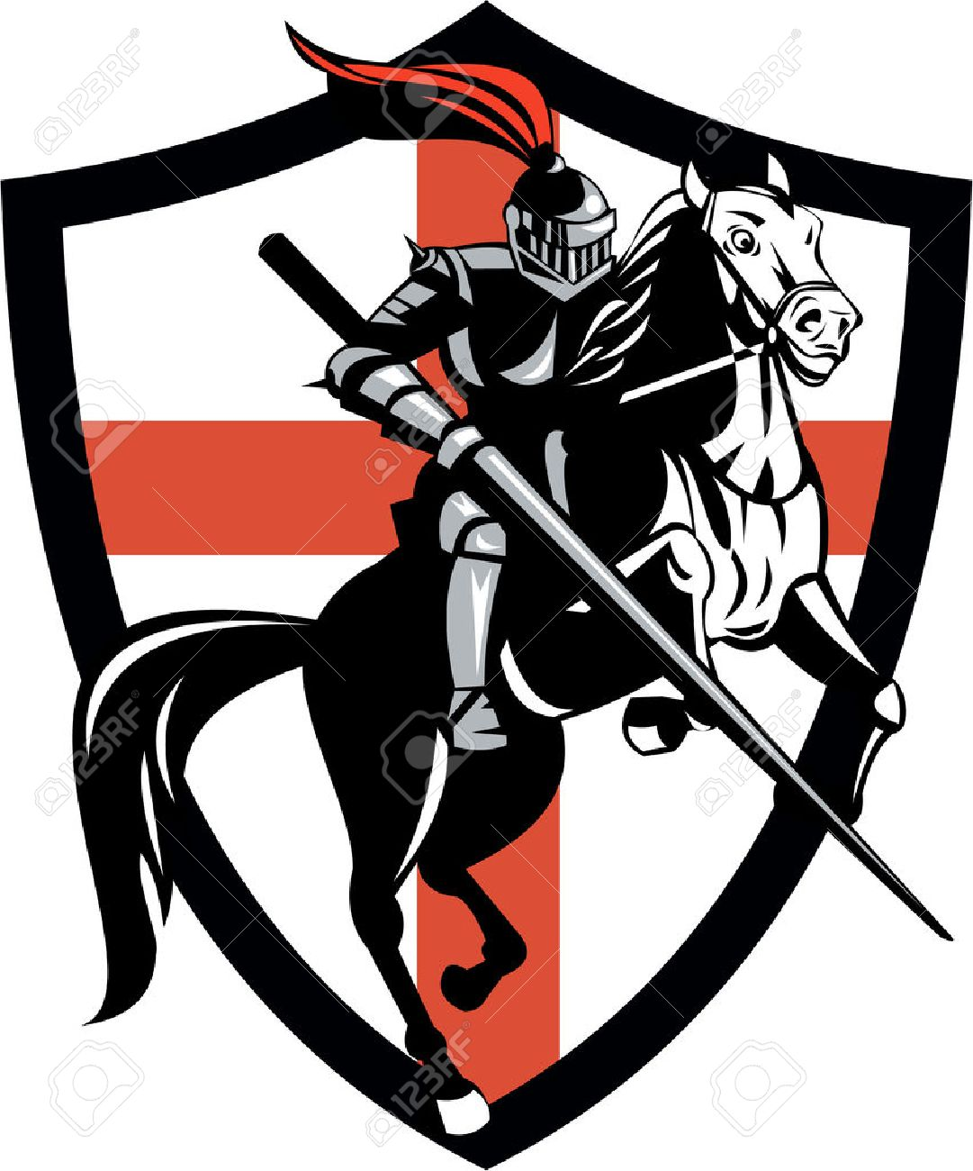 Knight Clipart Black And White