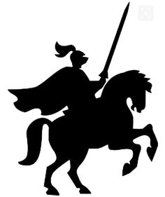 236x281 Knight On Horse Clip Art Silhouette Knight Horseback