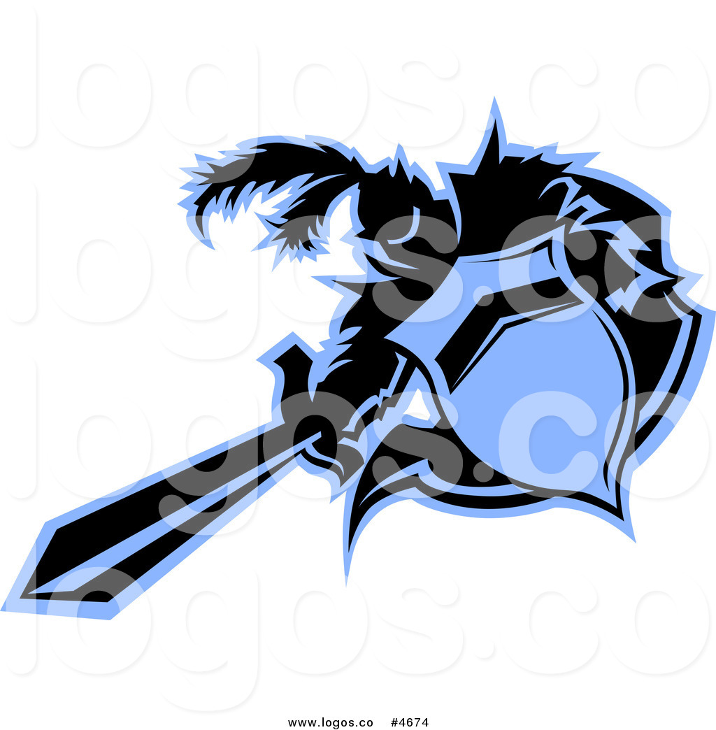 1024x1044 Royalty Free Clip Art Vector Logo Of A Black And Blue Knight