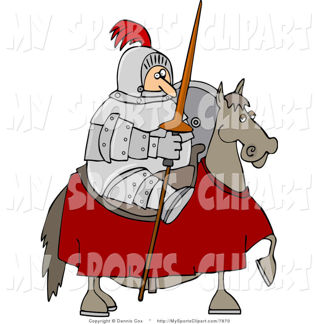 1024x1044 Sports Clip Art Of A Knight Holding His Lance On His Horse By