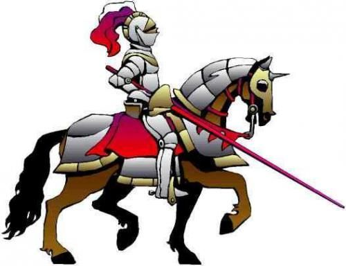 500x384 Medieval Knight Cartoon Medieval Ages Knights Vector Cliparts