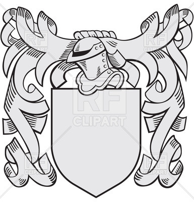 385x400 Heraldic Templates With Helmet And Shield