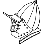 150x150 Knight's Helmet Public Domain Vectors