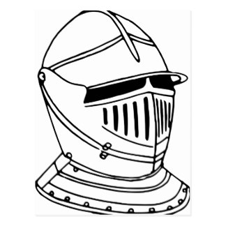 324x324 Knight Helmet Postcards Zazzle