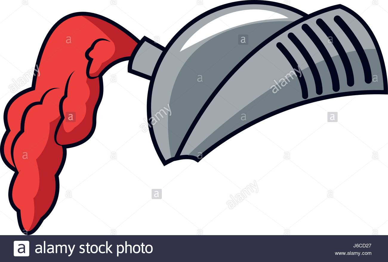 1300x878 Cartoon Medieval Helmet Knight Metal Stock Vector Art