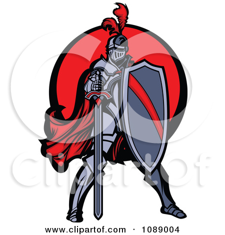 450x470 Knight On Horse Mascot Clipart