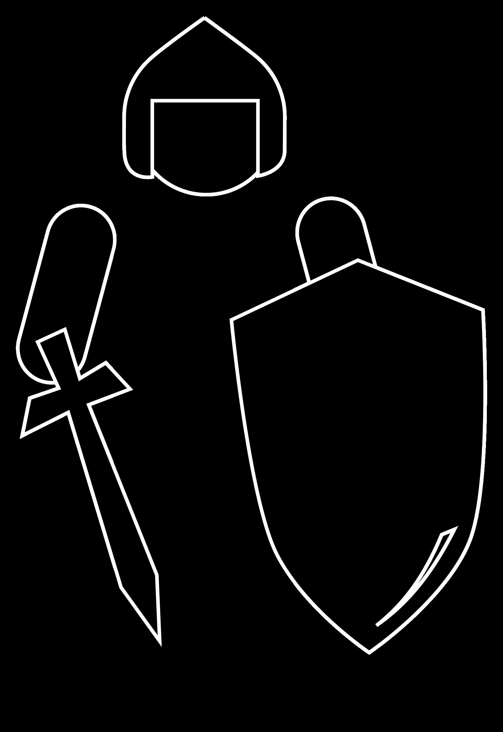 1650x2400 Knight Silhouette Clip Art