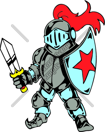 398x500 Medieval Knights Clipart