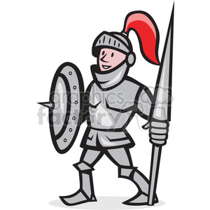 300x300 Royalty Free Knight Shield Lance Stand Iso 389961 Vector Clip Art