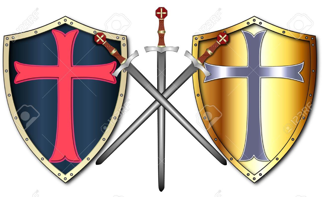 1300x794 Shield Clipart Crusader Shield