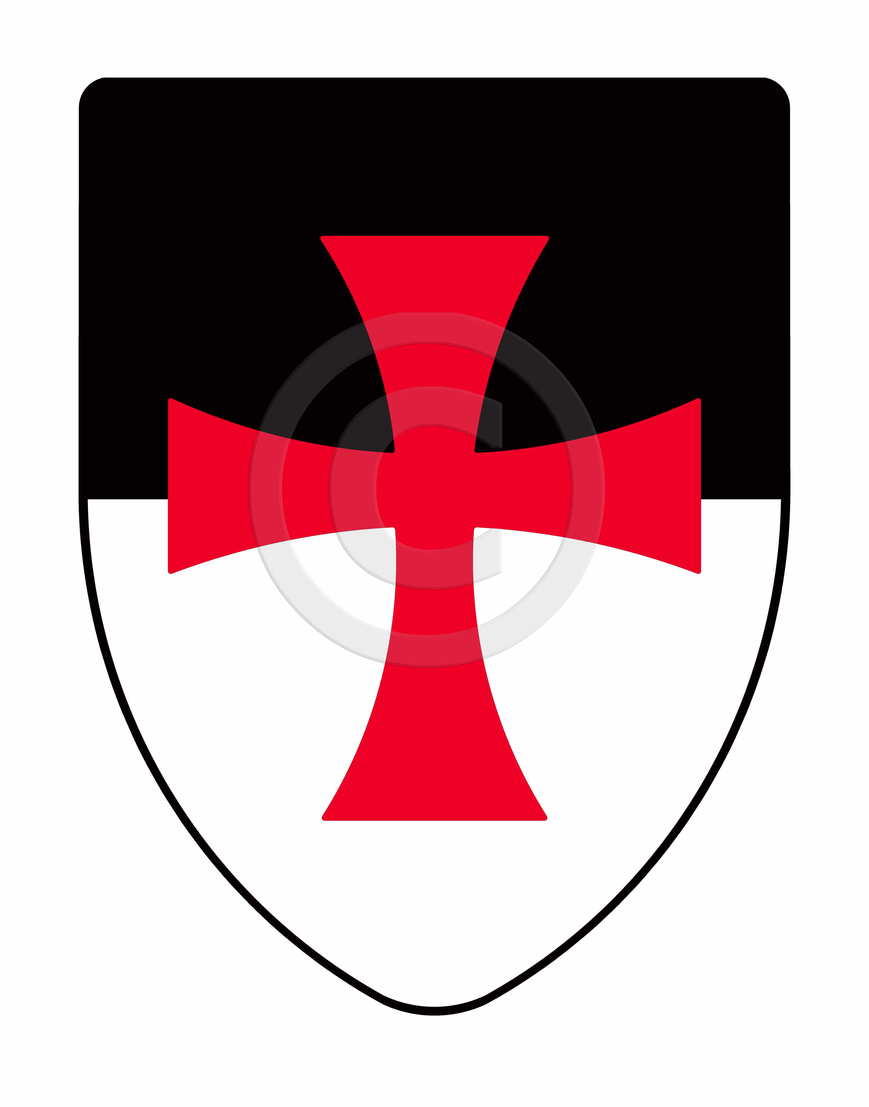 2971x3781 Templar Knights Medieval Shield, Hand Painted