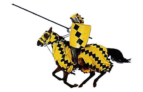 464x298 Knight On Horse Mascot Clipart
