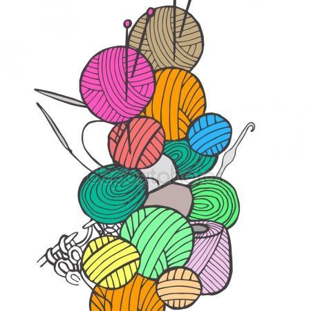 450x450 Knitting Needles Stock Vectors, Royalty Free Knitting Needles