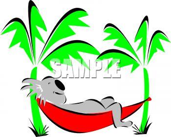 350x280 Royalty Free Clip Art Image Koala Sleeping In A Hammock