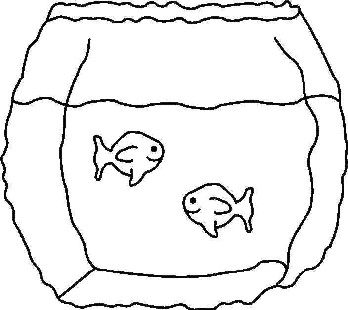 704x628 Fish Bowl Coloring Page Free Download Coloring Pages Outline