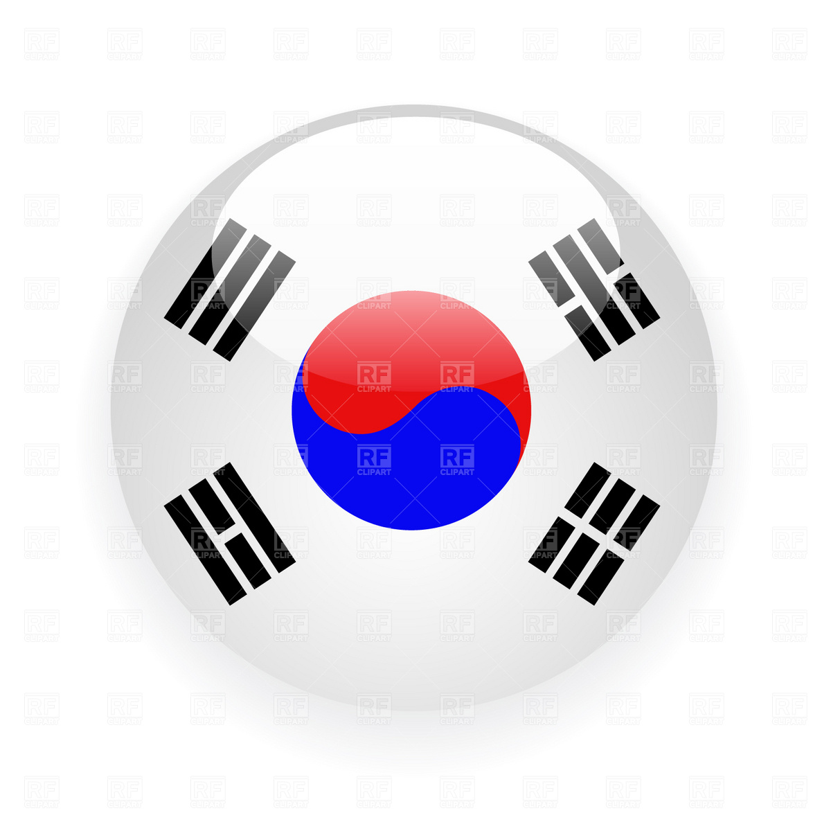 Korea clipart free download best korea clipart on clipartmag 1200x1200 south korea button flag icon royalty free vector clip art image biocorpaavc Image collections