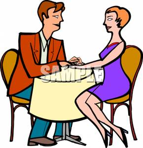 290x300 Free Clipart Image A Couple Holding Hands On A Date