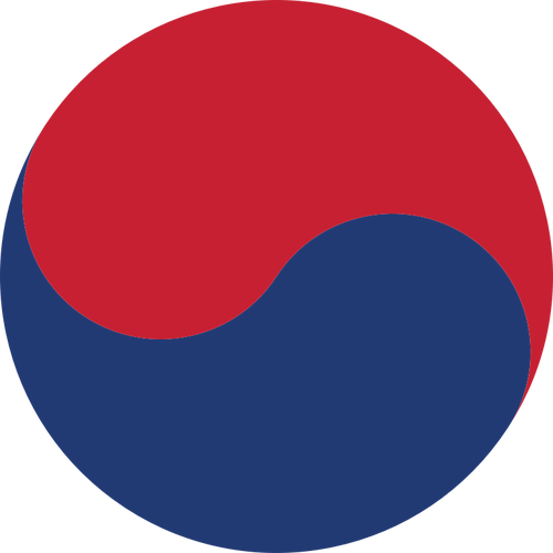 500x500 Korean Taeguk Symbol Vector Clip Art Public Domain Vectors