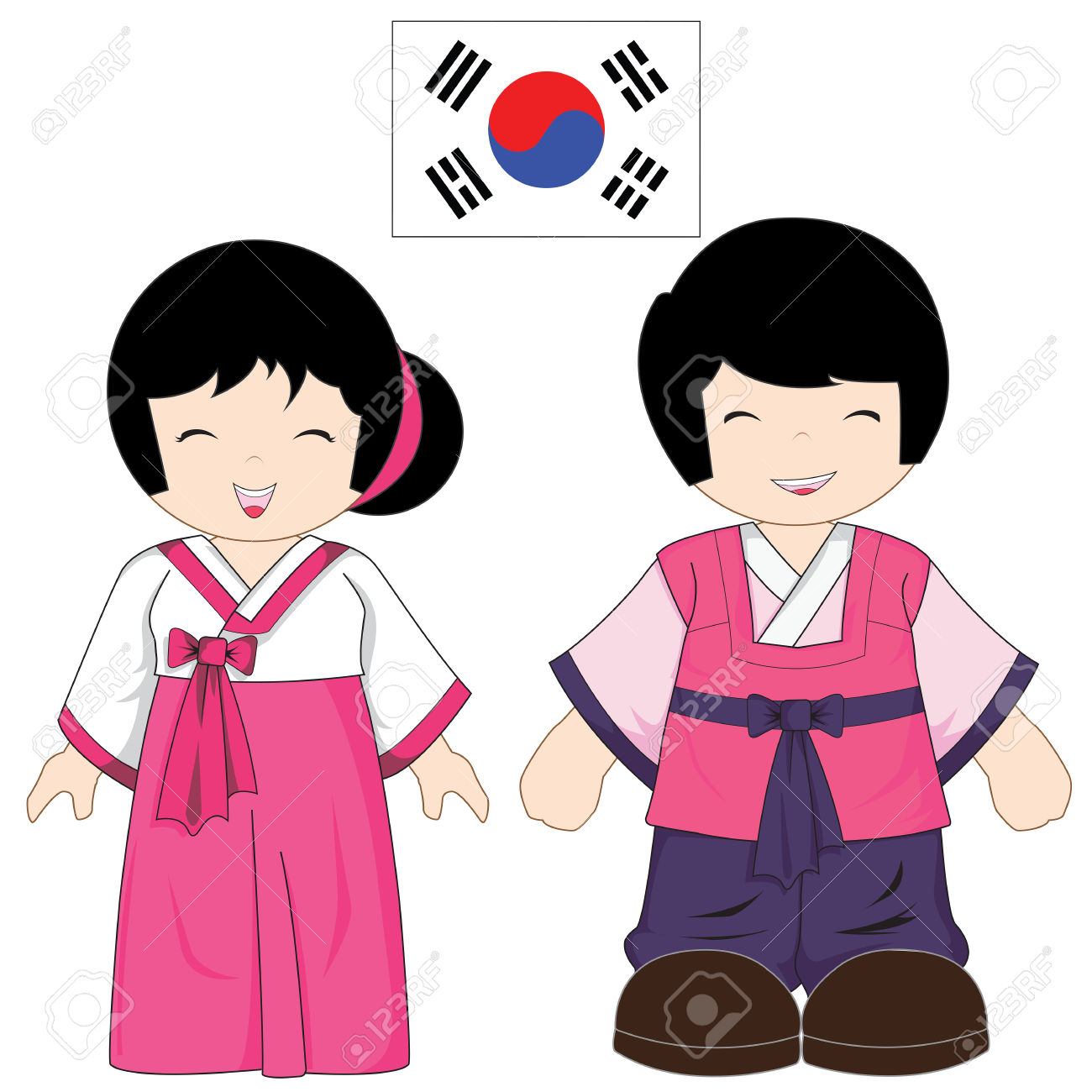 1300x1300 Korean Clipart Korean Person