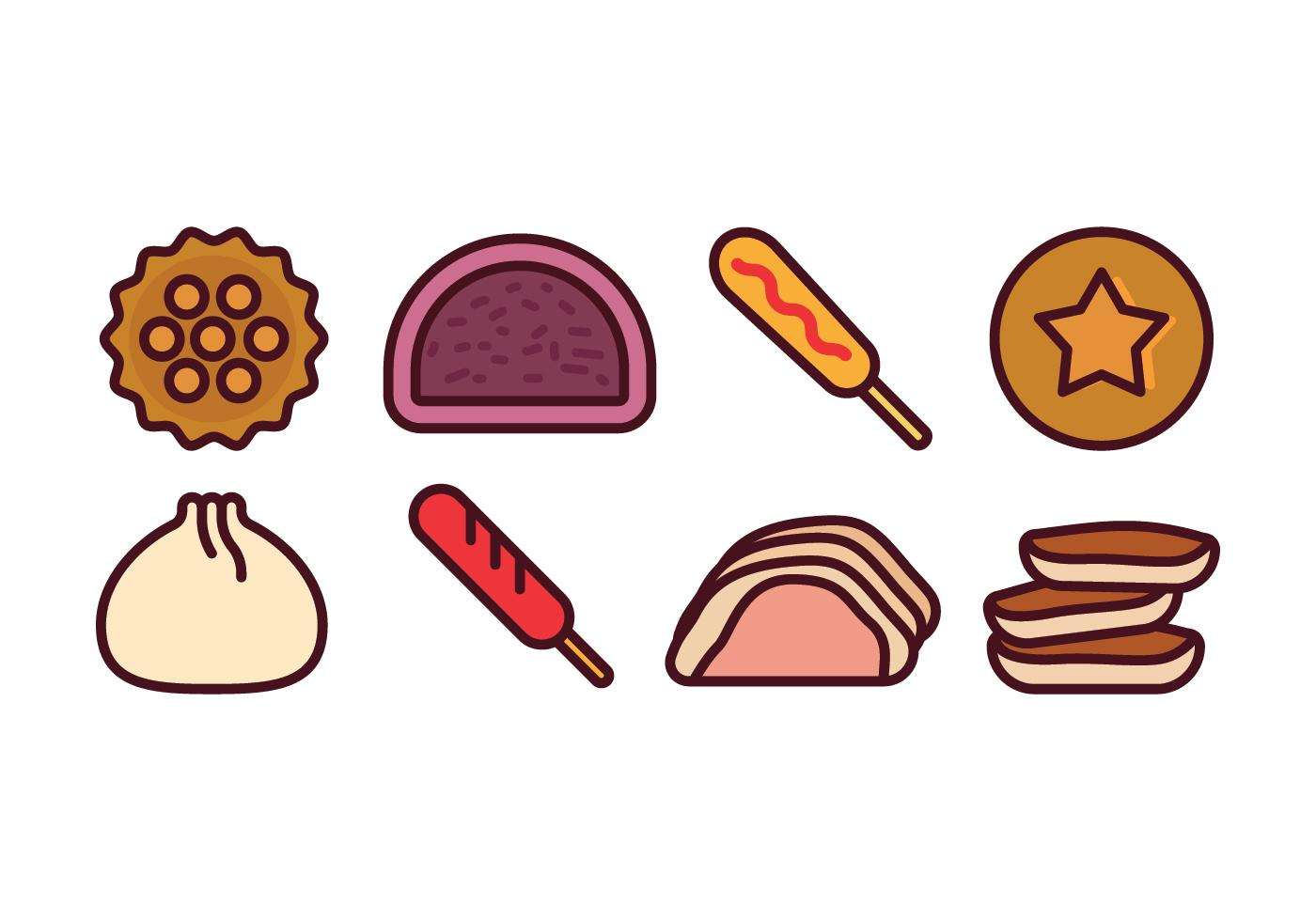 1400x980 Top 10 Korean Food Icons Vector Drawing