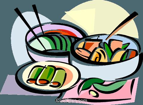 480x354 Korean Cuisine Kimchi Royalty Free Vector Clip Art Illustration