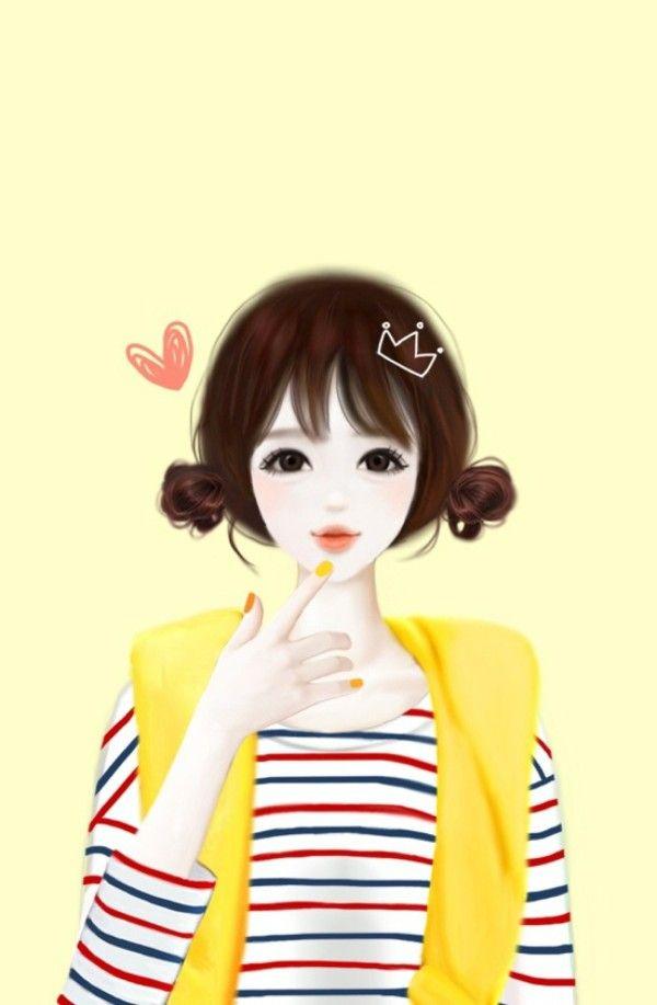 Korean Girl Wallpaper Cartoon Wallpapersimages Org