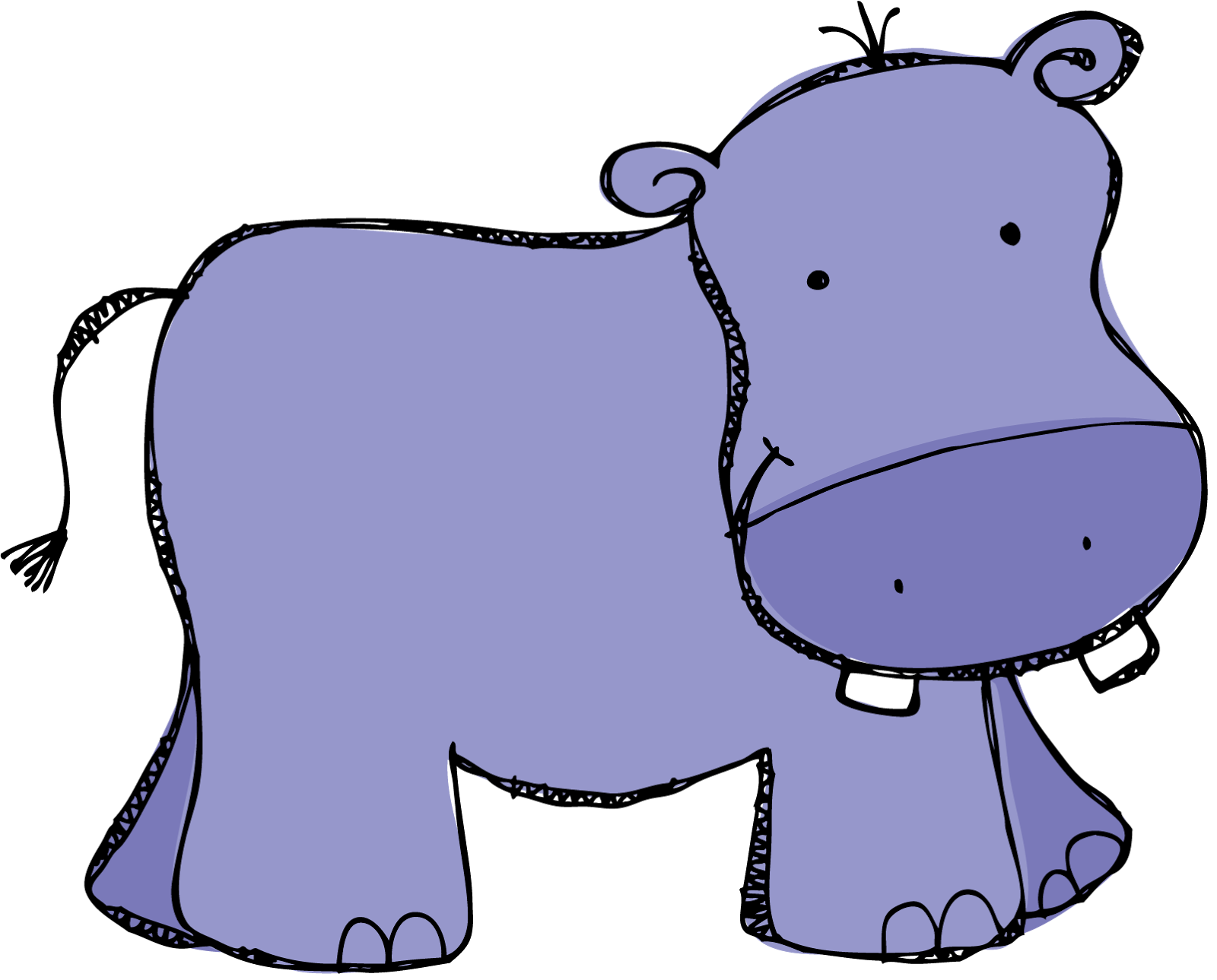 1600x1289 Purple Hippo Clipart Kid