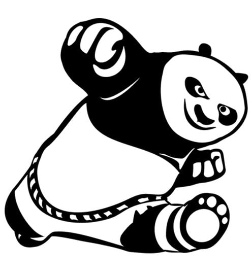 494x544 Buy Print Mantras Cute Kung Fu Panda Wall Sticker Online