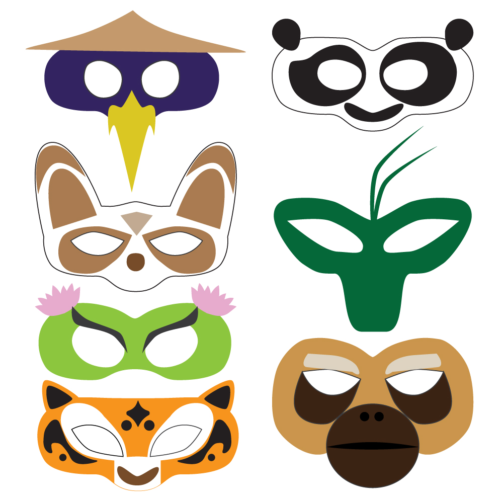 1000x1000 Kung Fu Panda Masks