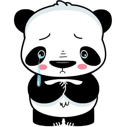 417x417 221 Best Panda Images Black White, Drawing