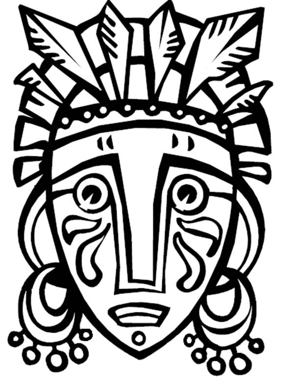 600x777 African Tribal Mask Coloring Page Murderthestout