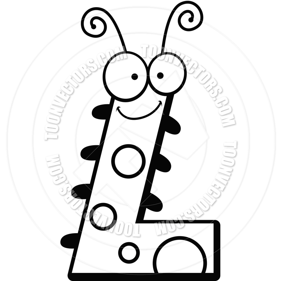 940x940 Cartoon Letter L Bug (Black And White Line Art) By Cory Thoman